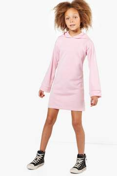 boohoo Girls Wide Sleeve Hooded Sweat Dress