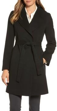 Fleurette Women's Shawl Collar Cashmere Wrap Coat