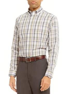 Daniel Cremieux Signature Plaid Pinpoint Long-Sleeve Woven Shirt