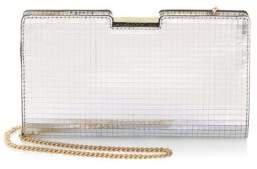 Milly Mirror Mosiac Small Frame Leather Clutch