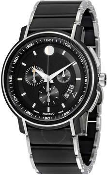 Movado Strato Chronograph Black Dial Men's Watch