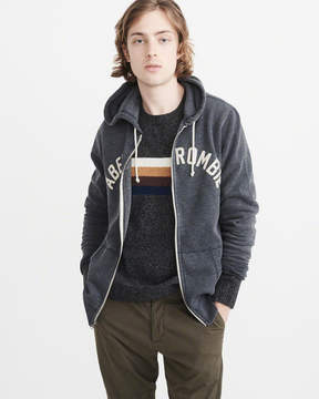 Abercrombie & Fitch Logo Zip-Up Hoodie