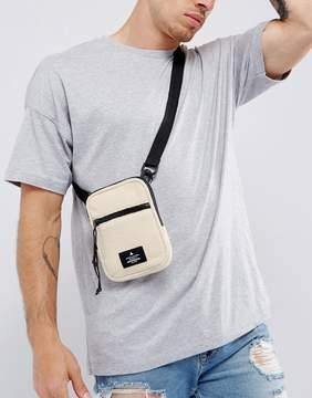 Asos Flight Bag In Cream Fleece
