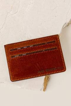 francesca's Monica Leather Card Case in Tan - Tan