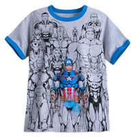 Disney Captain America with Avengers Ringer T-Shirt for Boys