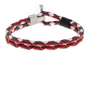 Ben Sherman Stainless Steel Braided Leather Bracelet