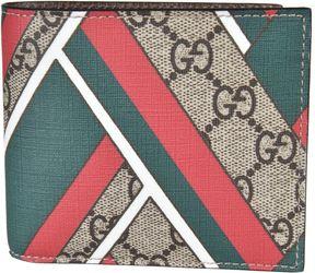 Gucci Two Bifold Chevron Wallet