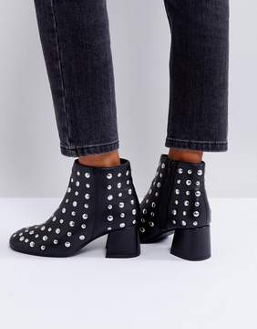 Park Lane Studded Leather Kitten heel Boot