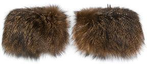 Armani Collezioni fox fur bracelet pair