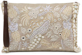 Tommy Bahama Belize Embroidered Canvas Clutch Bag