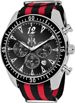 Jivago Timeless Mens Black and Red Strap Watch