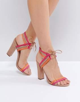 Call it SPRING Astoressi Brown Block Heeled Sandals