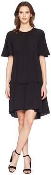Jil Sander Navy Oversize T-Shirt Dress in Crepe De Chine Women's Dress