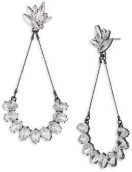 ABS by Allen Schwartz Black Magic Crystal Navette and Teardrop Earrings