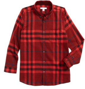 Burberry Toddler Boy's Mini Fred Flannel Button-Down Shirt