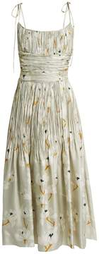 Brock Collection Didier pleated silk dress