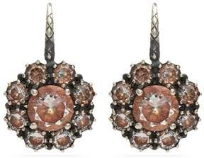 Bottega Veneta Cubic-zirconia sterling-silver earrings