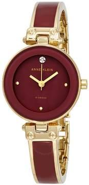 Anne Klein Diamond Red Dial Ladies Watch