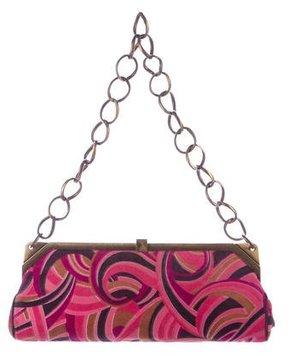 Gianni Versace Velvet Shoulder Bag