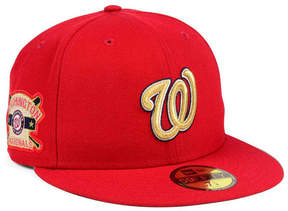 New Era Washington Nationals Exclusive Gold Patch 59FIFTY Cap
