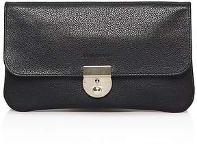Longchamp Clutch - Veau Foulonne Travel - BLACK/SILVER - STYLE