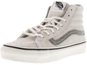 Vans Women's Sk8-Hi Slim Vintage Suede True White High-Top Skateboarding Shoe - 5M