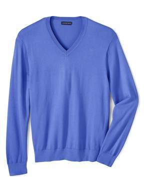 Lands' End Lands'end School Uniform Men's Regular Performance V-neck Sweater