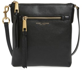 Marc Jacobs Recruit North/south Leather Crossbody Bag - Black - BEIGE - STYLE