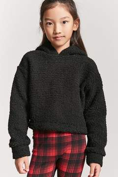 Forever 21 Girls Faux Shearing Hooded Pullover Sweater (Kids)