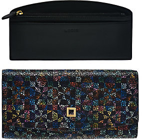 Lodis Italian Leather RFID Wallet w/ Removable Card Case -Taya