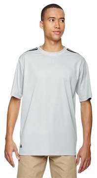adidas A72 Mens ClimaLite 3-Stripes T-Shirt - Light Onix & Black, 2XL