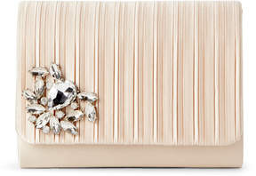 Jessica McClintock Champagne Katie Pleated Convertible Clutch