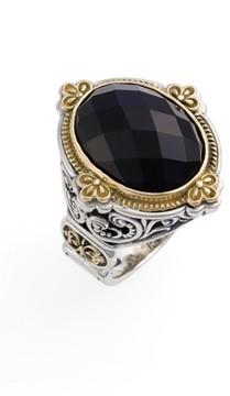Konstantino Women's 'Nykta' Faceted Stone Ring