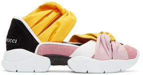 Emilio Pucci Pink and Black Colorblock Knot Slip-On Sneakers