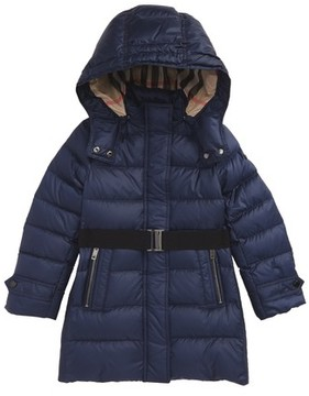 Burberry Girl's Mini Dalesford Hooded Puffer Jacket