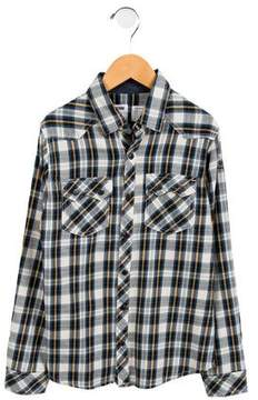 Zadig & Voltaire Boys' Collared Plaid Shirt