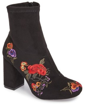 Mia Women's Monique Embroidered Sock Bootie