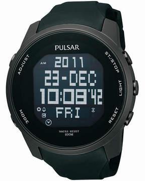 Pulsar Mens Black Sports Digital Watch PQ2011