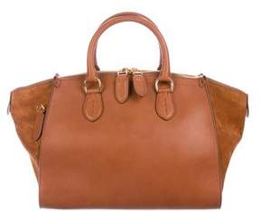 Ralph Lauren Leather Zip Satchel