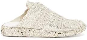 Maison Margiela Lace-up backless glitter-embellished trainers