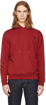 McQ Red Swallow Badge Clean Hoodie