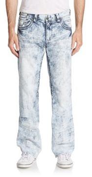 Affliction Cooper Acid Wash Straight Leg Jeans