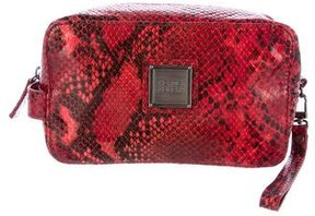 Herve Leger Snakeskin Cosmetic Bag