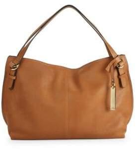 Vince Camuto Pewter Leather Satchel Bag