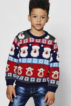 boohoo Boys Christmas Repeat Jumper