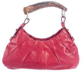 Saint Laurent Leather Mini Mombasa Bag - RED - STYLE