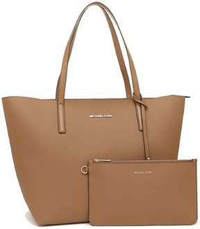Michael Kors Hayley Large Coated Canvas Tote - Acorn - 30S7GH3T7B-541 - ACORN/OYSTER - STYLE