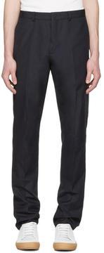 Acne Studios Navy Brobyn Pop Trousers