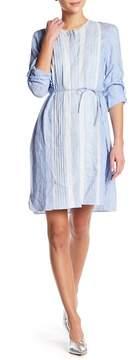 Elie Tahari Luca Front Lace Linen Shirt Dress