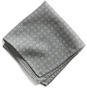 Todd Snyder Italian Wool Pocket Square in Grey Circle